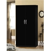 2 DOOR WARDROBE W/HANGING ROD - BLACK H71""