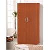 2 DOOR WARDROBE W/HANGING ROD - CHERRY H71""
