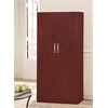 2 DOOR WARDROBE W/HANGING ROD - MAHOGANY H71""