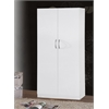 2 DOOR WARDROBE W/HANGING ROD - WHITE H71""