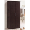 2 DOOR WARDROBE W/SHELVES - CHOCOLATE H73""