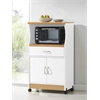 MICROWAVE CART - WHITE H45.4""