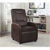 SINGLE RECLINER WITH WHEELS - BROWN H37-41""