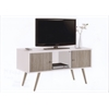 RETRO STYLE ENTERTAINMENT UNIT- WHITE-GREY H24""