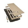 Premium Aluminum Frame Floating Dock 4'x10' w/ Resin Top