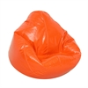 Wetlook Vinyl Large Pure Bead Bean Bag Orange