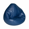 Large Lifestyle Vinyl Pure Bead Bean Bag Navy Blue
