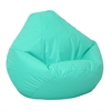 Large Lifestyle Vinyl Pure Bead Bean Bag Aqua