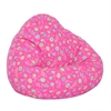 Large Print Pure Bead Bean Bag Pink flower