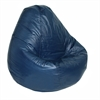 Adult Lifestyle Vinyl Pure Bead Bean Bag Navy Blue