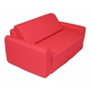 "Juvenile Poly Cotton Sofa Sleeper - Twin 36"" Red"