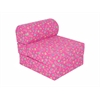 "Juvenile Poly Cotton Studio Chair Sleeper - Jr. Twin 24"" Pink Flower"