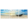 SeniA Wall Mounted Triptych Photography Prints, Fishing at Sunset, Set of Three