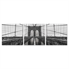 SeniA Wall Mounted Triptych Photography Prints, Brooklyn Bridge Chrome, Set of Three