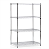 Wayar 4-Tier Heavy Duty Wire Shelving Chrome,