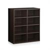 Indo  4x2 Stackable Accessories Storage Shelf, Espresso