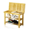 Nature Bamboo Flip Shoes Stool
