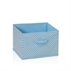 Laci Small Dot Design Non-Woven Fabric Soft Storage Organizer, Blue