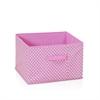 Laci Small Dot Design Non-Woven Fabric Soft Storage Organizer, Pink