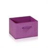 Laci Small Dot Design Non-Woven Fabric Soft Storage Organizer, Purple