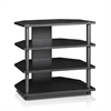 Turn-N-Tube Easy Assembly 4-Tier Petite TV Stand, Blackwood