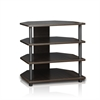 Turn-N-Tube Easy Assembly 4-Tier Petite TV Stand, Espresso