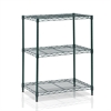 Wayar 3-Tier Heavy Duty Wire Shelving, Dark Green