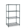Wayar 4-Tier Heavy Duty Wire Shelving, Dark Green