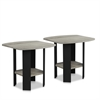 Simple Design End Table, Set of Two