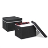 Non-Woven Fabric Heavy-Duty Storage Organizer, 2-Pack Black