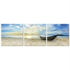 SENIC Fishing at Sunset 3-Panel Canvas on Wood Frame, 60 x 20-in
