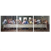 SENIC Last Supper 3-Panel Canvas on Wood Frame, 60 x 20-in
