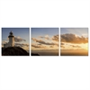 SENIC Light House 3-Panel Canvas on Wood Frame, 60 x 20-in