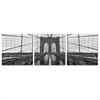 SENIC Brooklyn Bridge 3-Panel Canvas on Wood Frame, 60 x 20-in