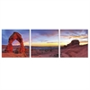 SENIC Declicate Arch 3-Panel Canvas on Wood Frame, 60 x 20-in