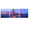 SENIK Golden Gate 3-Panel MDF Framed Photography Triptych Print, 72 x 24-in