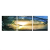 SENIK Wave 3-Panel MDF Framed Photography Triptych Print, 72 x 24-in