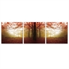 SENIK Autumn Leaves 3-Panel MDF Framed Photography Triptych Print, 72 x 24-in