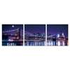 SENIK NYC The City Never Sleeps 3-Panel MDF Framed Photography Triptych Print, 72 x 24-in