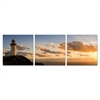 SENIK Light House 3-Panel MDF Framed Photography Triptych Print, 72 x 24-in