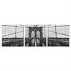 SENIK Brooklyn Bridge 3-Panel MDF Framed Photography Triptych Print, 72 x 24-in