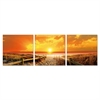 SENIK Sunrise Meadow 3-Panel MDF Framed Photography Triptych Print, 72 x 24-in