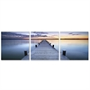 SENIK Pier Sunrise 3-Panel MDF Framed Photography Triptych Print, 72 x 24-in