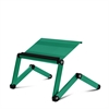 Ergonomics Aluminum Vented AdJustable Multi-functional Laptop Desk Portable Bed Tray, Christmas Green