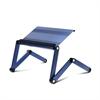Ergonomics Aluminum Vented AdJustable Multi-functional Laptop Desk Portable Bed Tray, Light Blue