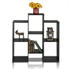 Parsons Staggered Cube Bookcase with 6-Shelves, Black