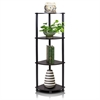 Turn-N-Tube 4-Tier Corner Display Rack Multipurpose Shelving Unit, Espresso/Black