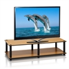 Just No Tools Wide TV Stand, Light Cherry w/Black Tube
