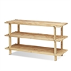 Pine Solid Wood 3-Tier Shoe Rack, Natural
