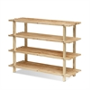 Pine Solid Wood 4-Tier Shoe Rack, Natural